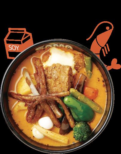 クリーミー海老スープ