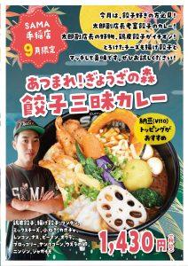 あつまれ!ぎょうざの森 餃子三昧カレー 9月マンスリーカレー SAMA手稲店